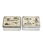Vin Style Sewing Tin 10 x 8cm