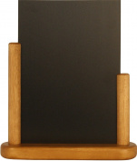Securit Lacquered Elegant Table Chalk Board, Wood, Teak, Small, 10 x 15 cm