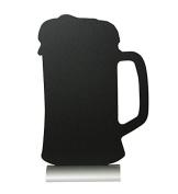 Securit Silhouette Beer Chalk Board, Melamine Resin, Black