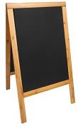 Securit Lacquered Sandwich Pavement Chalk Board, Hard Wood, Teak, 70 x 120 cm