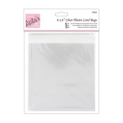 Anitas 167 x 167 mm Plastic Card Bag with 25 mm Lip, Pack of 50, Transparent