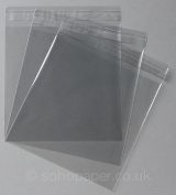Cello Bags 155 x 155mm + 30mm Lip Self Seal packed in 100's