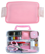 Mass support Ptolemy sewing kit / stopper type with handle (No.600-4) Pink