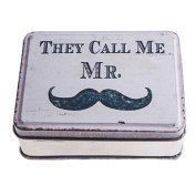 "Handy ""They call me Mr"" Moustache Curious Design Metal Pock"