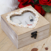 Couture Wooden Craft Heart Box