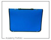 Artcare 15214400 48 x 4 x 35 cm A3 Synthetic Material Academy Portfolio, Royal Blue