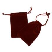 Velvet Gift Pouch - Red