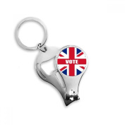 Britain UK Flag Vote For General Election Metal Key Chain Ring Multi-function Nail Clippers Bottle Opener Car Keychain Best Charm Gift