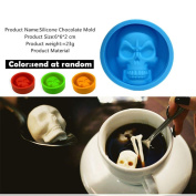 Bovake Pop Halloween 3D Skull Silicone Mould Chocolate Fondant Cake Making Baking Mould