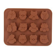 naisidier 12 Cavity Flowers Silicone Ice Cube Cake Soap Mould Cake Muffin Baking Pan Cake Bread Mould Chocolate Jelly Candy Baking Mould