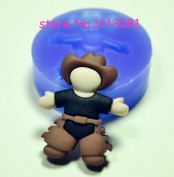 F104 Fimo Mould Silicone Moulds Girl Cowboy
