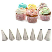 FantasyDay® 7 Pieces Stainless Steel Piping Nozzles Cake Decorating Tips Set - Perfect Decorating Tools for Cupcakes Cakes Cookies