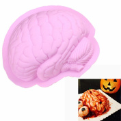 Albeey pink brain shaped silicone cake baking mould