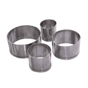 LUFA 4pcs Stainless Steel Round Circle Cookie Fondant Cake Mould Cutter