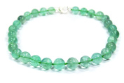 Exceptionally Beautiful Necklace made of gemstone fluorite Round Beads – 14 mm diameter