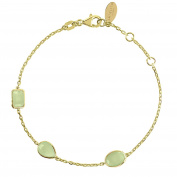 Venice Bracelet Gold Aqua Chalcedony