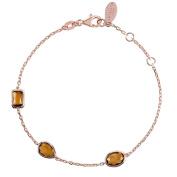 Venice Bracelet Smokey Quartz Rosegold