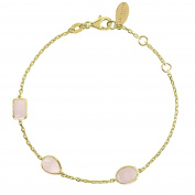 Venice Bracelet Gold Rose Quartz