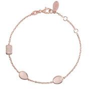 Venice Bracelet Rosegold Rose Quartz