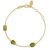 Venice Bracelet Gold Peridot