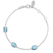 Venice Bracelet Silver Blue Topaz