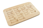 """'""""To Learn For Large & Small Made of Beech Wood"""" Das Original ABC Bread and Butter Board in Italian – Gift Idea for Kids & Adults"""