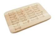 """'""""To Learn For Large & Small Made of Beech Wood"""" Das Original ABC Bread and Butter Board in Spanish – A Great Gift/Present For Children and Adults"""
