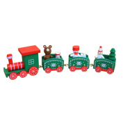 Xshuai Christmas Decorations Christmas Woods Small Train Ornaments Xmas Festive Decor Gift Toys for Kindergarten Child Educational Development
