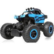 YIIXN Big Feet 1:14 Four-wheel Drive Climbing 2.4Ghz Remote Off-road Vehicles High Speed Racing Children Toy Car All Terrain
