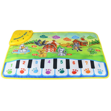 Piano Musical Dance Mat, Coolplay Educational Electronic Toys for Kids - 8 Piano Functional Keys and 5 Animal Sounds and Pronunciation, Play and Record, for Kids 3+