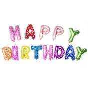 ZeWoo 41cm Happy Birthday Letter Banner Aluminium Foil/ Helium Foil Balloon Party Decorations