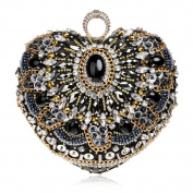 Flada Womens Clutches Bags Sequin and Crystal Rhinestones Evening Handbags Purses#2