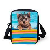 Coloranimal Stylish Dog Messenger Crossbody Handbag for Women Girls