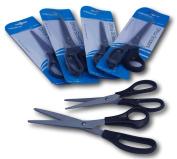 Pack of 6 Craft black handle scissors 165mm & 210 mm length