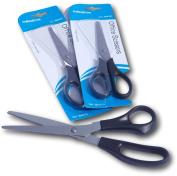 Pack of 3 Plastic black handle Scissors 165mm length