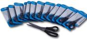 Pack of 12 Plastic black handle Scissors 210mm length