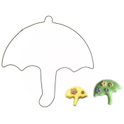 Aulley Umbrella Shape Holiday Cookie Decorating Cutter Mould Stainless Cake Biscuit Mould