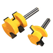 Cutter Router, Outgeek 2Pcs 1.3cm Shank Groove Router Hardened Steel Grooving Woodworking T-slot Cutter Bit 0.6cm x 0.6cm