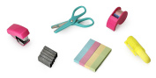 NPW Mini School Stationery Stapler Scissors Set - Mini Office Tool Kit Note To Self