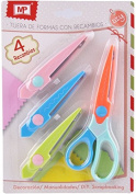 MP Pm906 – 3 Shapes Scissors with 4 Refills