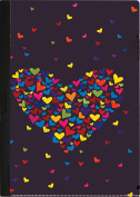CENTRUM A4 PP Heart Design Clip File