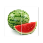 Hob Covers with Knobs Set of 2 Chopping Board Water Melon