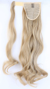 """24"""" - Ash blonde Clip in Hair Extensions Wrap Around Ponytail One Piece Magic Paste Pony Tail Long Wavy Curly Soft Silky for Women Fashion and Beauty"""