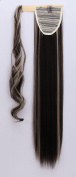 Clip in Hair Extensions Wrap Around Ponytail One Piece Magic Paste Pony Tail Long Straight Soft Silky for Women Fashion and Beauty -