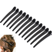 Slivercolor 12 Pcs Hairpin Duck Teeth Hairclip Arches Crocodile Hairpair Compartment Clamps From
