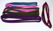 Pack of 6 Rubber Headbands Double. .