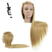 70cm - 70cm Mannequin Head Hair Styling Training Head Manikin Cosmetology Doll Head Synthetic Fibre Hair