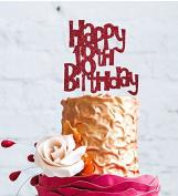 Happy 18th Birthday Cake Topper - Dark Pink