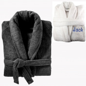 Personalised Embroiderd Luxury Terry Towelling Bath Robe 100% Egyptian Cotton 500GSM Extra Absorbent With Belt PINK BLACK WHITE NAVY Bath Shower