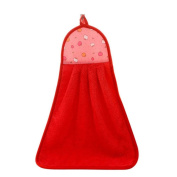 Bathroom Kitchen Absorption Hand Towel Soft Plush Hanging Wipe Bathing Towel